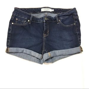 Torrid Women's Dark-Wash Jean Shorts Size 12